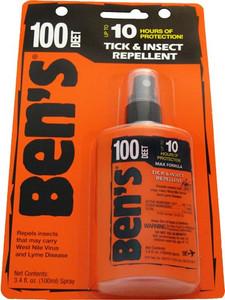 AMK BEN'S 100 INSECT REPELLENT 100% DEET 3.4OZ PUMP (CARDED)