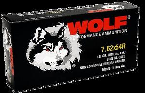 Wolf 76254BFMJ148 Performance  7.62x54mmR 148 GR Full Metal Jacket (FMJ) 20 Bx/ 25 Cs