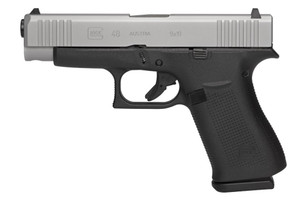 Glock G48 PA485SL701 Compact Silver 9mm 4.15-inch 10Rds with Glock Night Sights