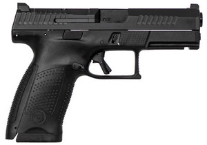 CZ 95130 P-10 USA Compact 9mm Double 4 15+1 Black Interchangeable Backstrap Grip Black Fiber Reinforced Polymer Frame Black Nitride Slide*