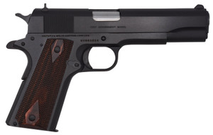 """Colt Mfg O1911C 1911 Government Series 70 45 ACP Single 5"""" 7+1 Double Diamond Checkered Rosewood Grip Blued Steel Slide*"""