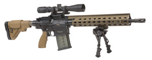HK MR762LRPA1 MR762 A1 Long Rifle Package II Semi-Automatic 308 Winchester/7.62 NATO 16.5 OR w/Scope 20+1/10+1 5-Position G28 with Adj Cheekpiece FDE Stk Black*