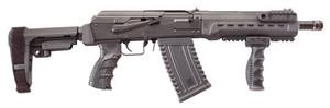 Kalashnikov USA KS12KOMRAD KS-12 Komrad Semi-Automatic 12 Gauge 12.5 3 5+1 SB Tactical SBA3 Pistol Brace Stk Black*