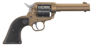 "Ruger 2004 Wrangler Revolver 22 LR 4.62"" 6 Round Black Checkered Grip, Burnt Bronze Cerakote"