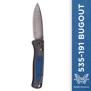 Benchmade - Bugout 535-191, EDC Folding Knife, Gold Class, Drop-Point Blade, Manual Open, Axis Locking Mechanism, Made in USA