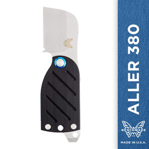 Benchmade - Aller 380, EDC Folding Knife with Screwdriver and Bottle Opener, Wharncliffe Blade, Friction Folder, Made in USA