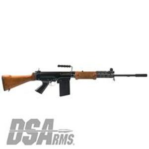 """DSA SA58 FAL 21"""" Israeli Light Barrel Rifle - Officer Grade Hebrew War Hammer"""