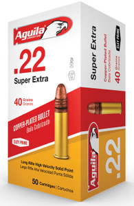 Aguila 1B222328 Standard  22 LR 40 GR Copper-Plated Solid Point 50 Bx/ 100 Cs*