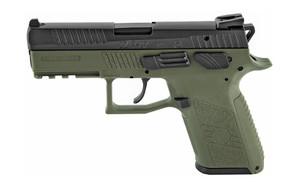 CZ P-07 9MM 3.75 GRN/BLK NS 15RD