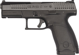 CZ P-10 C 9MM FS 15-SHOT REVERSIBLE MAG CATCH BLACK