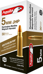 AGUILA AMMO 5MM REMINGTON MAGNUM 30GR. JHP 50-PACK