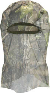 HOT SHOT SIERRA FULL MESH FACE MASK ELASTIC BAND GREEN CAMO