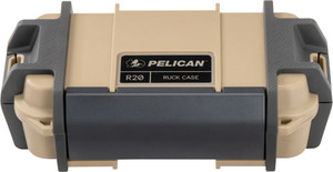PELICAN RUCK CASE MEDIUM R20 W/DIVIDER TAN ID 7.1X3.4X2