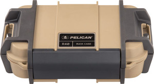 PELICAN RUCK CASE LARGE R40 W/DIVIDER TAN ID 7.6X4.7X1.9