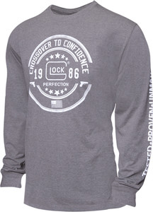 GLOCK CROSSOVER LONG SLEEVE T-SHIRT GREY SMALL