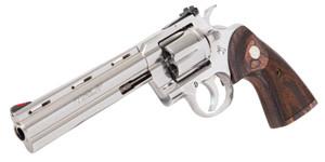 """Colt Mfg PYTHONSP6WTS Python 357 Mag 6 Round 6"""" Stainless Steel Walnut Target Grip"""