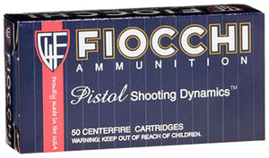 Fiocchi 38A -Shooting Dynamics  38 Special 130 GR Full Metal Jacket 50 Bx/ 20 Cs
