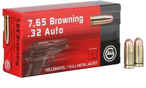 GECO 270340050-Pistol  32 ACP 73 GR Full Metal Jacket (FMJ) 50 Bx/ 20 Cs