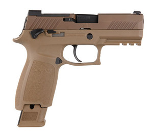 Sig Sauer 320CA9M18MS-P320 M18 9mm Luger 3.90 17+1 21+1 Coyote Stainless Steel PVD Coyote Polymer Grip