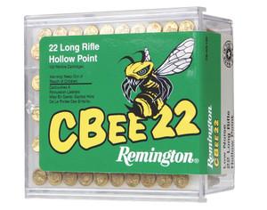 Remington Ammunition-CB22L100 Cbee  22 Long Rifle (LR) 33 GR Hollow Point (HP) 100 Bx/ 50 Cs