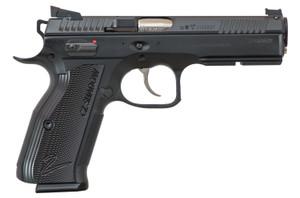 CZ 91763 -SP-01 AccuShadow 2 9mm Luger Single/Double 4.80 17+1 Black Aluminum Grip Black Nitride Slide