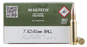 Magtech 762A Tactical/Training 7.62x51mm NATO 147 gr Full Metal Jacket (FMJ) 50 rounds