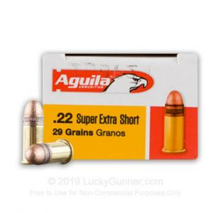 Aguila 1B222110 Standard  22 Short 29 GR Copper-Plated Solid Point 500 rounds
