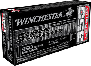 WIN AMMO SUPER SUPPRESSED .350 LEGEND 265GR. FMJ 20-PACK