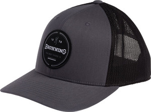 BG CAP CRESCENT LOGO GRAY W/ CIRCLE PATCH BM LOGO ADJSTBLE