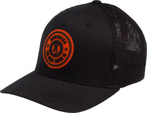 BG CAP DUSTED LOGO BLACK W/ CIRCLE PATCH LARGE/XL FLEX FIT
