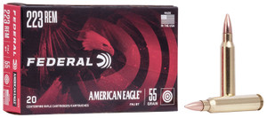 Federal AE223M American Eagle 223 Rem 55 gr Full Metal Jacket Boat Tail (FMJBT) 20 Bx/ 25 Cs