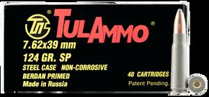 Tulammo UL076214-Rifle  7.62X39mm 154 GR Spitzer 40 Bx/ 25 Cs