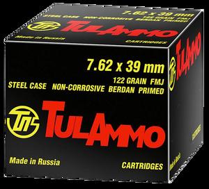 Tulammo UL076240- Rifle  7.62X39mm 122 GR Full Metal Jacket (FMJ) 40 Bx/ 25 Cs
