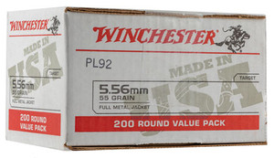 Winchester Ammo USA556L2 USA 5.56 NATO 55 gr Full Metal Jacket 200 Rounds total