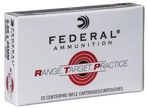 Federal -RTP556 Range and Target  223 Rem/5.56NATO 55 GR Full Metal Jacket (FMJ) 20 Bx/ 25 Cs