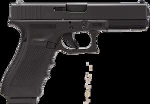 """Glock PG2250203 G22 Gen 4 40 S&W Double 4.48"""" 15+1 Black nDLC Interchangeable Backstrap Grip"""