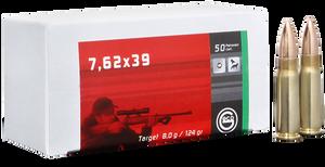 GECO 265840020 Target 7.62x39mm 124 gr Full Metal Jacket (FMJ) 20 Bx/ 50 Cs