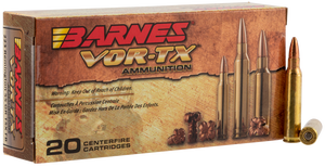 Barnes Bullets 21520 VOR-TX Rifle 223 Rem 55 gr TSX Flat Base 20 Bx/ 10 Cs