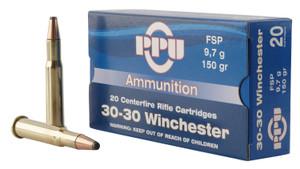 PPU PP30301 Standard Rifle 30-30 Win 150 gr Flat Soft Point (FSP) 20 Bx/ 10 Cs