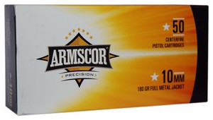 ARMSCOR AMMO 10MM 180GR. FMJ 200 rounds