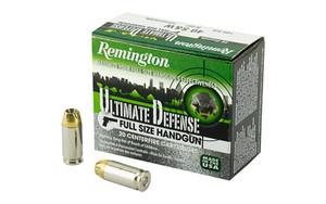 Remington Ammunition HD40SWBN Ultimate Defense 40 S&W 180 gr Brass Jacket Hollow Point (BJHP) 20 Bx/ 25 Cs