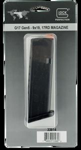 Glock -33814 G17/34 Gen5  9mm Luger 17 Round Polymer Black Finish