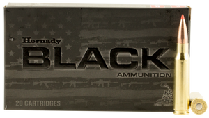 Hornady -80971 Black  308 Winchester/7.62 NATO 168 GR A-Max 20 Bx/ 10 Cs