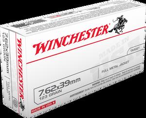 Winchester Ammo- Q3174 USA  7.62X39mm 123 GR Full Metal Jacket (FMJ) 20 Bx/ 10 Cs