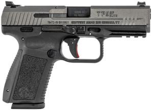Century -HG4869TN TP9SF Elite Canik 9mm Luger Striker Fire 4.19 15+1 Tungsten Gray Interchangeable Backstrap Grip Tungsten Gray Cerakote Steel Slide