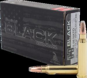 Hornady -81296 Black 5.56 NATO 75 GR InterLock HD 20 Bx/ 10 Cs