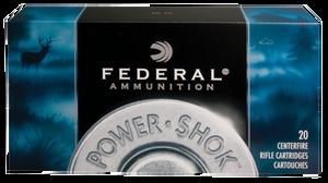Federal -308B Power-Shok  308 Winchester 180 GR Jacketed Soft Point (JSP) 20 Bx/ 10 Cs