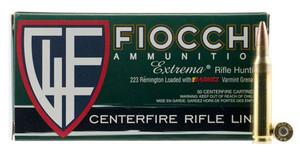 Fiocchi- 223VGNT Extrema Leadless 223 Rem/5.56NATO 50 GR Barnes Varmint Grenade 50 Bx/ 10 Cs