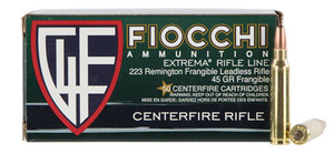 Fiocchi 223FRANG Extrema  223 Remington 45 GR Lead Free Frangible 50 Bx