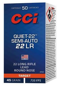 CCI 975CC Target & Plinking Quiet-22 22 LR 45 GR Lead Round Nose 50 Bx